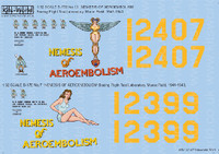 B-17E No7 & 13 Nemesis of Aeroembolism 1/32 Kitsworld Decals