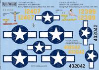 B-17E No7 & 13 Nemesis of Aeroembolism 1/72 Kitsworld Decals