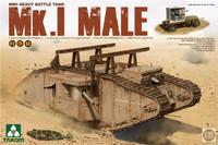 WWI Mk.I Male Heavy Battle Tank (2-in-1) 1/35 Takom Models