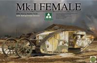 WWI Mk.I Female Heavy Battle Tank with Anti-Grenade Screen 1/35 Takom Models