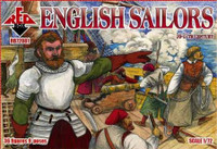 English Sailors XVI-XVII Century (36) 1/72 Red Box Figures