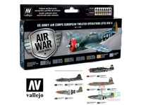 US Army Air Corps European Theater Operations WWII Model Air Paint Set (8 Colors) Vallejo Paint