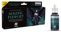 Malefic Flesh Tones Fantasy-Pro Model Air Paint Set (8 Colors) Vallejo Paint