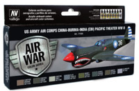 US Army Air Corps China-Burma-India Pacific Theater WWII Model Air Paint Set (8 Colors) Vallejo Paint
