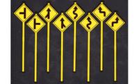 Road Path Warning Signs Set 2 (8) O Scale Tichy Trains