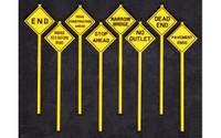 Written Warning Signs (8) O Scale Tichy Trains
