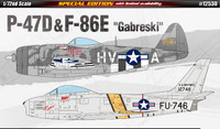 P-47D & F-84E Gabreski US Fighter (2 Kits) 1/72 Academy
