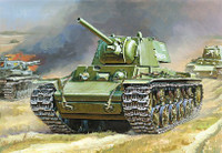 Soviet KV-1 Mod.1941 Heavy Tank with F-32 Gun (Snap Kit) 1/100 Zvezda