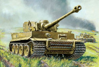 German Tiger I Heavy Tank (Snap Kit) 1/100 Zvezda