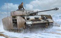 German PzBeobWg IV Ausf J Medium Tank 1/16 Trumpeter
