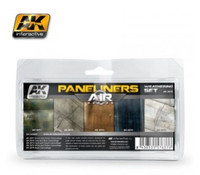 Air Series: Panel Liners Weathering Combo Enamel Paint Set (5 Colors) 35ml Bottle AK Interactive