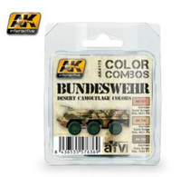 Color Combos: Bundeswehr Desert Camouflage Acrylic Paint Set (3 Colors) 17ml Bottles AK Interactive