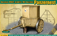 WWII German Mobile MG Bunker Panzernest 1/72 Ace Models