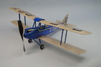 "30"" Wingspan DeHavilland DH60 Gipsy Moth Rubber Pwd Aircraft Laser Cut Kit Dumas"