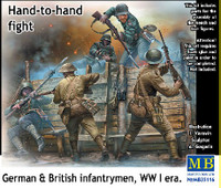 WWI Hand-to-Hand Fight German & British Infantrymen (5) 1/35 Masterbox