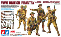 WWI British Infantry w/Small Arms & Equipment 1/35 Tamiya