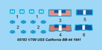 USS California BB-44 Battleship 1941 1/700 Trumpeter