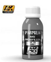Grey Primer & Microfiller 100ml Bottle AK Interactive