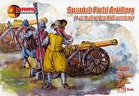 1st Half XVII Century Spanish Field Artillery (24 w/4 Guns) 1/72 Mars Figures