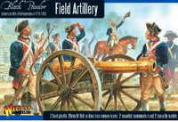Black Powder: Field Artillery 1776-1783 (2 Mtd Figs, 2 Casualty Figs, 2 Cannons) (Plastic) 28mm Warlord Games