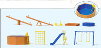 Playground Equipment & Pool (9pc) HO Scale Preiser