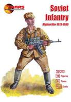 Soviet Infantry Afghan War 1979-1989 (18) 1/32 Mars Figures