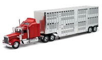 Kenworth W900 w/Pot Belly Livestock Trailer 1/32 New Ray