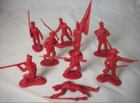 Alamo Mexican Infantry Set #1 (12) 1/32 Classic Toy Soldiers