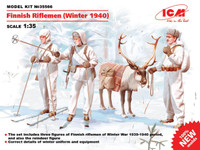 Finnish Riflemen Winter 1940 (3 w/reindeer) 1/35 ICM Models