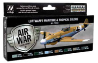 17ml Bottle Luftwaffe Maritime & Tropical Colors Model Air Paint Set (8 Colors) Vallejo Paints