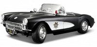 1957 Corvette Police Car (Black/White) 1/18 Maisto