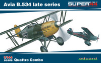 Avia B534 Late Series Aircraft Quattro Combo (Ltd Edition Plastic Kit) 1/144 Eduard