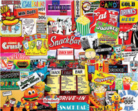 Snack Bar Collage Puzzle (1000pc) White Mountain Puzzles