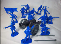 American Civil War Union Artillery Soldiers (12) 1/32 Classic Toy Soldiers