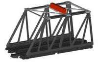 E-Z Track Truss Bridge Kit w/Blinking Light HO Scale Bachmann Trains