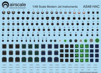 Modern Jet Instrument Dials (Decal) 1/48 Airscale