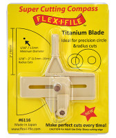 Super Cutting Compass w/Titanium Blade for Precision Circle & Radius Cuts FLEX-I-FILE