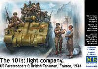 101th Light Company Paratroopers & British Tankmen France 1944 1/35 Masterbox