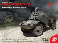 WWII German PzSpahWg P204(f) Armored Vehicle 1/35 ICM Models