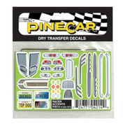 Racer Accents Dry Transfer Pinecar