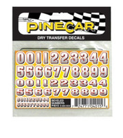Beveled Numbers Dry Transfer Pinecar