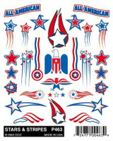 Stars & Stripes Stick-On Decal Pinecar