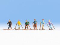 Skiers (6) HO Scale Noch