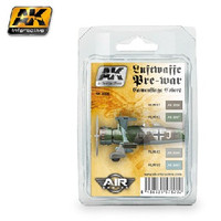 Air Series: Luftwaffe Pre-War Camouflage Acrylic Paint Set (4 Colors) 17ml Bottles AK Interactive