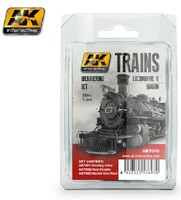 Trains: Locomotive & Wagon Weathering Enamel Paint Set (3 Colors) 35ml Bottles AK Interactive