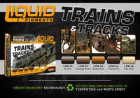 Trains & Tracks Railway Weathering Liquid Pigments Set (6 22ml Bottles) Lifecolor