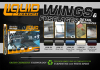 Wings & Fuselages Aircraft Weathering Liquid Pigments Set (6 22ml Bottles) Lifecolor
