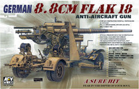 German 8.8cm Flak 18 Anti-Aircraft Gun 1/35 AFV Club