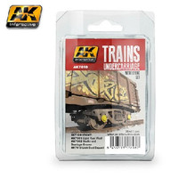 Trains: Undercarriage Weathering Enamel Paint Set (3 Colors) 35ml Bottles AK Interactive