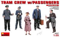 Tram Crew (2) & Passengers (3) for #38003 1/35 Miniart